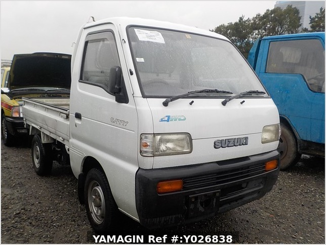 It is a picture of the white suzuki carry truck in 1991,Sub Photo 0 Stock No.Y026838