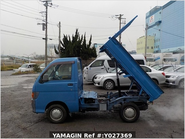 It is a picture of the blue daihatsu hijet dump in 1998,Sub Photo 6 Stock No.Y027369