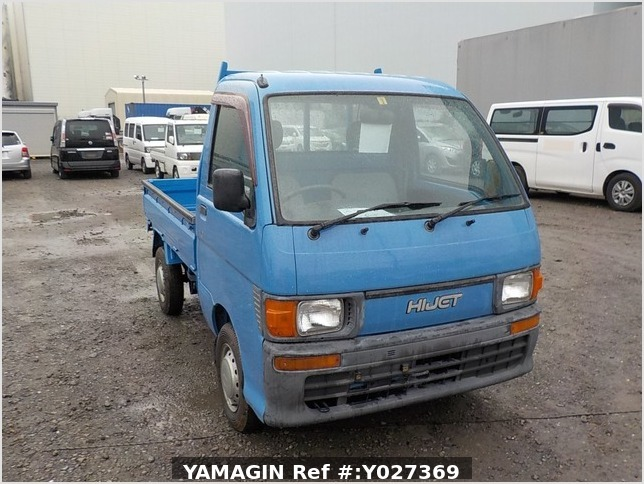 It is a picture of the blue daihatsu hijet dump in 1998,Sub Photo 1 Stock No.Y027369