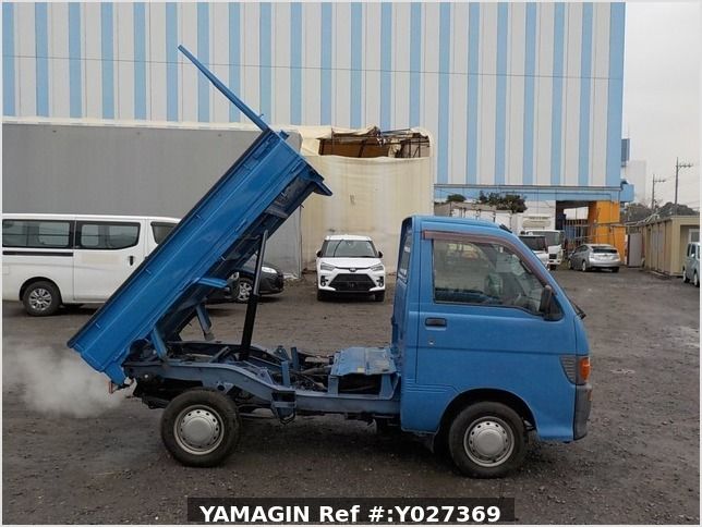 It is a picture of the blue daihatsu hijet dump in 1998,Sub Photo 0 Stock No.Y027369