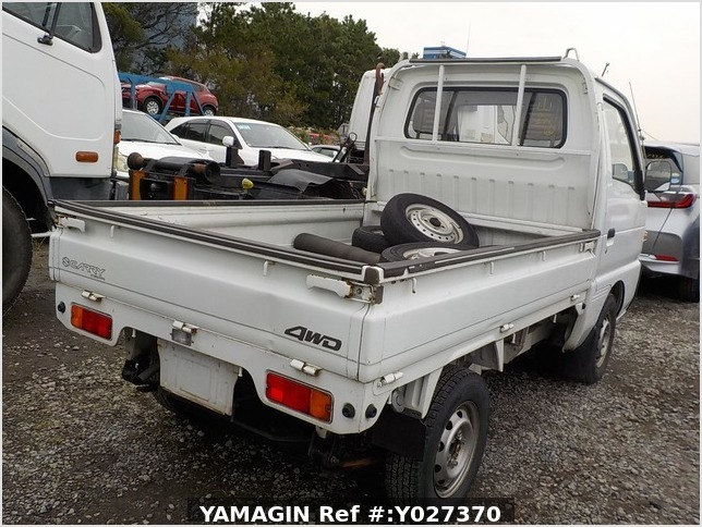 It is a picture of the white suzuki carry  truck in 1993,Sub Photo 2 Stock No.Y027370