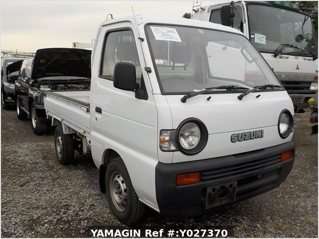 It is a picture of the white suzuki carry  truck in 1993,Sub Photo 0 Stock No.Y027370