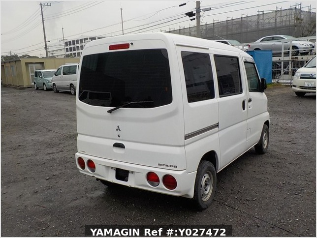 It is a picture of the white mitsubishi minicab passenger van in 2001,Sub Photo 2 Stock No.Y027472