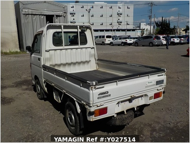 It is a picture of the white daihatsu hijet truck in 1996,Sub Photo 3 Stock No.Y027514