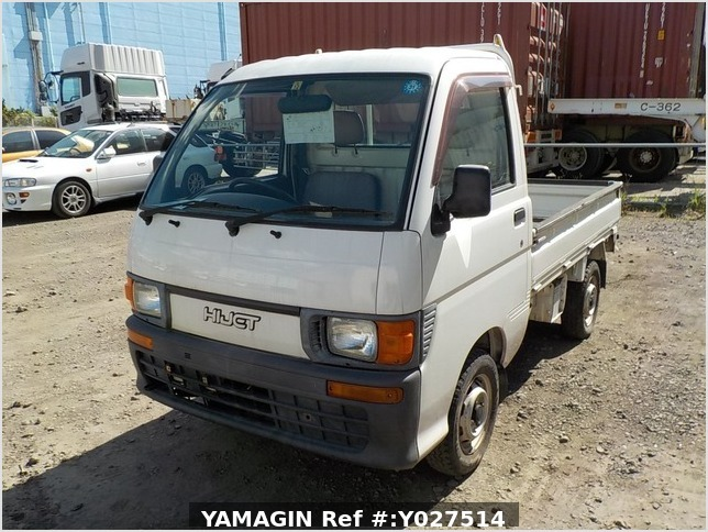 It is a picture of the white daihatsu hijet truck in 1996,Sub Photo 1 Stock No.Y027514