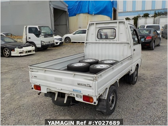 It is a picture of the white mitsubishi minicab truck in 1993,Sub Photo 2 Stock No.Y027689