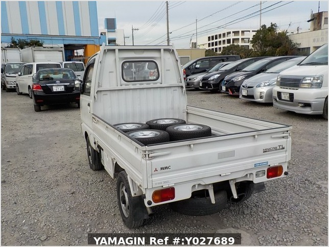 It is a picture of the white mitsubishi minicab truck in 1993,Sub Photo 3 Stock No.Y027689