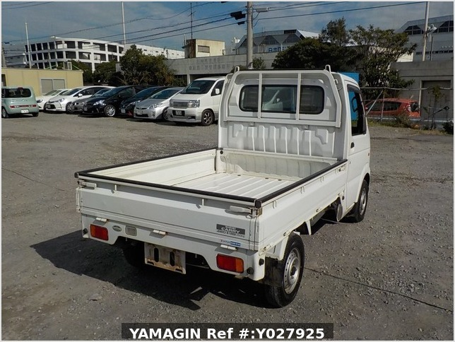 It is a picture of the white suzuki carry truck in 2002,Sub Photo 2 Stock No.Y027925
