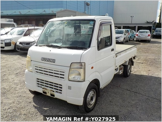 It is a picture of the white suzuki carry truck in 2002,Sub Photo 1 Stock No.Y027925