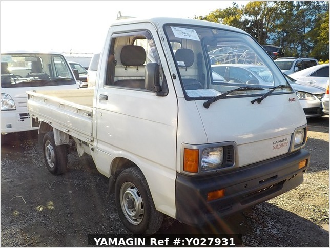 It is a picture of the white daihatsu hijet truck in 1993,Sub Photo 0 Stock No.Y027931