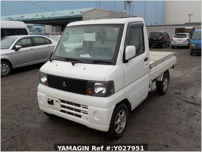 It is a picture of the white mitsubishi minicab truck in 2004,Sub Photo 1 Stock No.Y027951