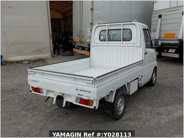 It is a picture of the white mitsubishi minicab truck in 2002,Sub Photo 2 Stock No.Y028113