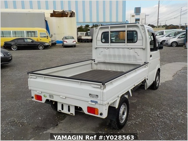 It is a picture of the white suzuki carry truck in 2007,Sub Photo 2 Stock No.Y028563