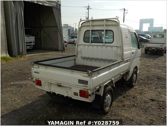 It is a picture of the white daihatsu hijet  jumbo in 1997,Sub Photo 3 Stock No.Y028759