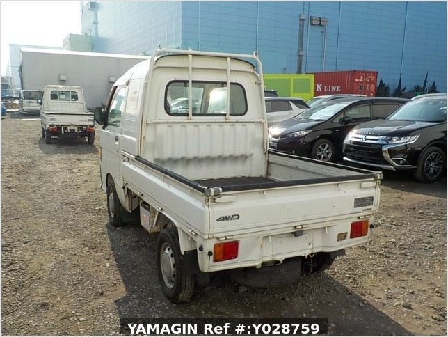 It is a picture of the white daihatsu hijet  jumbo in 1997,Sub Photo 2 Stock No.Y028759