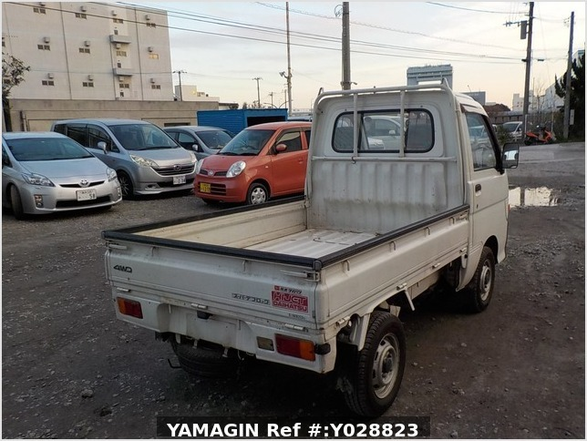 It is a picture of the white daihatsu hijet truck in 1995,Sub Photo 2 Stock No.Y028823