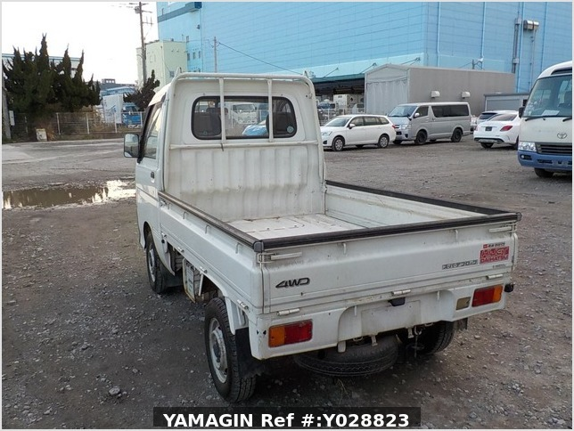 It is a picture of the white daihatsu hijet truck in 1995,Sub Photo 3 Stock No.Y028823