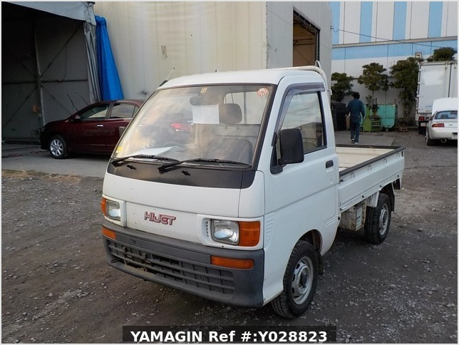 It is a picture of the white daihatsu hijet truck in 1995,Sub Photo 1 Stock No.Y028823