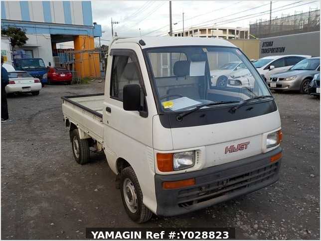 It is a picture of the white daihatsu hijet truck in 1995,Sub Photo 0 Stock No.Y028823