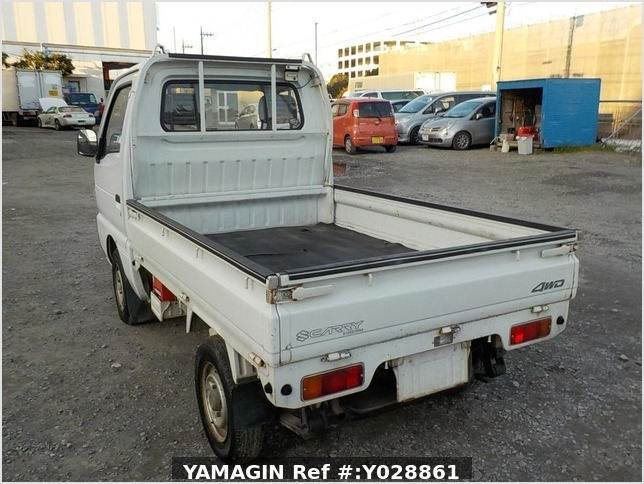 It is a picture of the white suzuki carry truck in 1995,Sub Photo 3 Stock No.Y028861