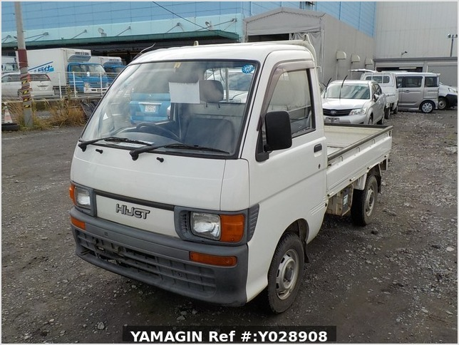 It is a picture of the white daihatsu hijet truck in 1995,Sub Photo 1 Stock No.Y028908