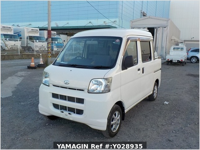 It is a picture of the white daihatsu hijet deck van in 2007,Sub Photo 1 Stock No.Y028935