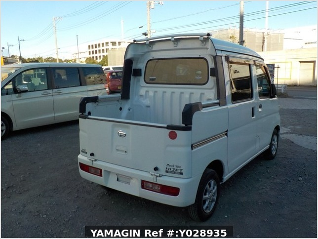 It is a picture of the white daihatsu hijet deck van in 2007,Sub Photo 2 Stock No.Y028935
