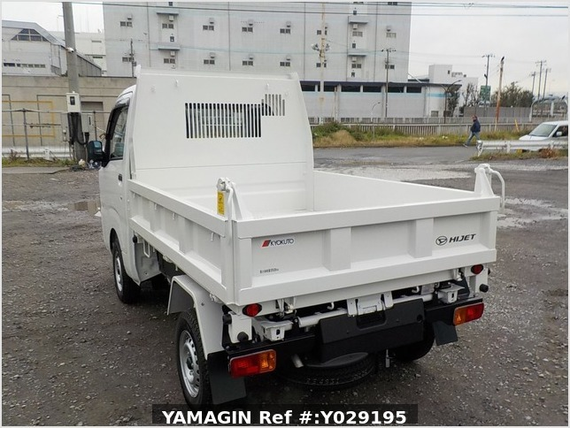 It is a picture of the white daihatsu hijet dump in 2019,Sub Photo 4 Stock No.Y029195