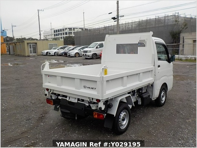It is a picture of the white daihatsu hijet dump in 2019,Sub Photo 3 Stock No.Y029195