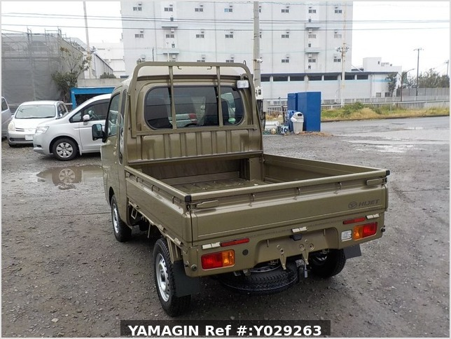 It is a picture of the khaki daihatsu hijet jumbo in 2019,Sub Photo 3 Stock No.Y029263