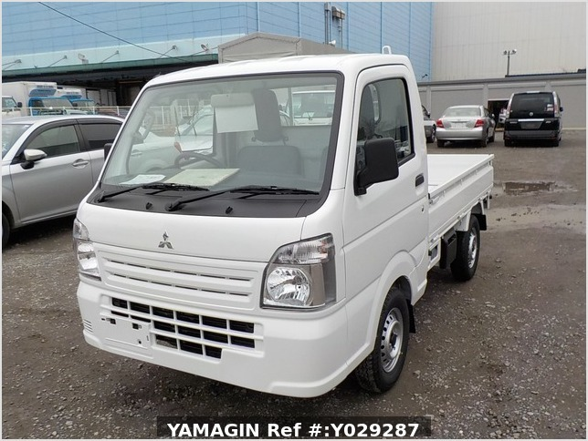It is a picture of the white mitsubishi minicab truck in 2019,Sub Photo 1 Stock No.Y029287