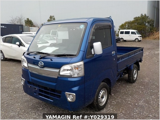 It is a picture of the blue daihatsu hijet truck in 2014,Sub Photo 1 Stock No.Y029319
