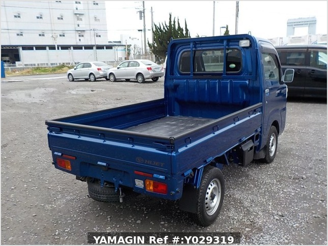 It is a picture of the blue daihatsu hijet truck in 2014,Sub Photo 3 Stock No.Y029319