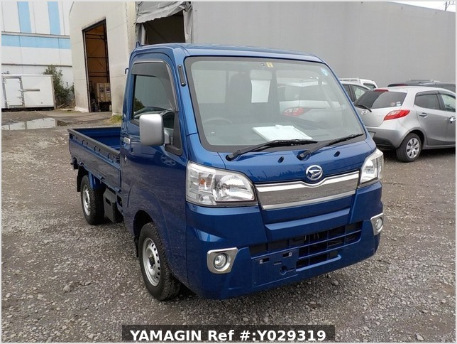 It is a picture of the blue daihatsu hijet truck in 2014,Sub Photo 0 Stock No.Y029319