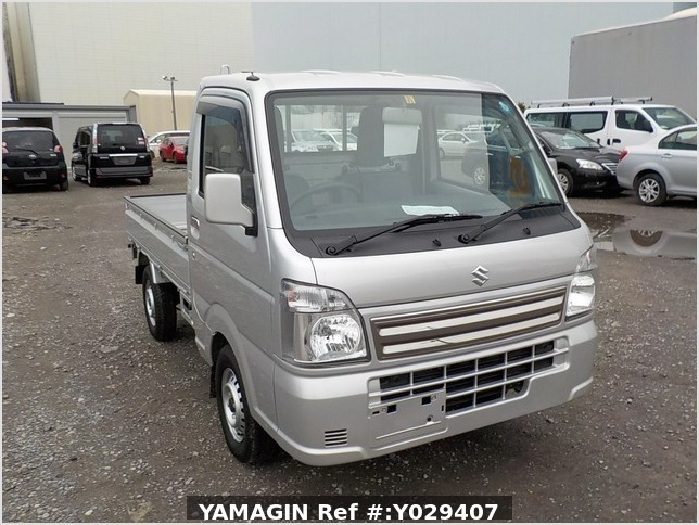 It is a picture of the silver suzuki carry truck in 2018,Sub Photo 0 Stock No.Y029407