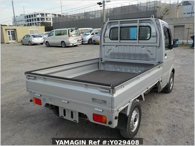 It is a picture of the silver suzuki carry truck in 2002,Sub Photo 2 Stock No.Y029408