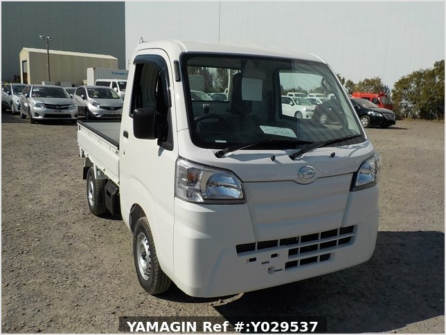 It is a picture of the white daihatsu hijet dump in 2020,Sub Photo 1 Stock No.Y029537