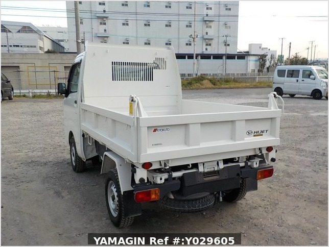 It is a picture of the white daihatsu hijet dump in 2018,Sub Photo 4 Stock No.Y029605