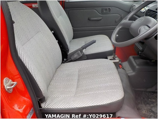 It is a picture of the red daihatsu hijet deck van in 1998,Sub Photo 1 Stock No.Y029617