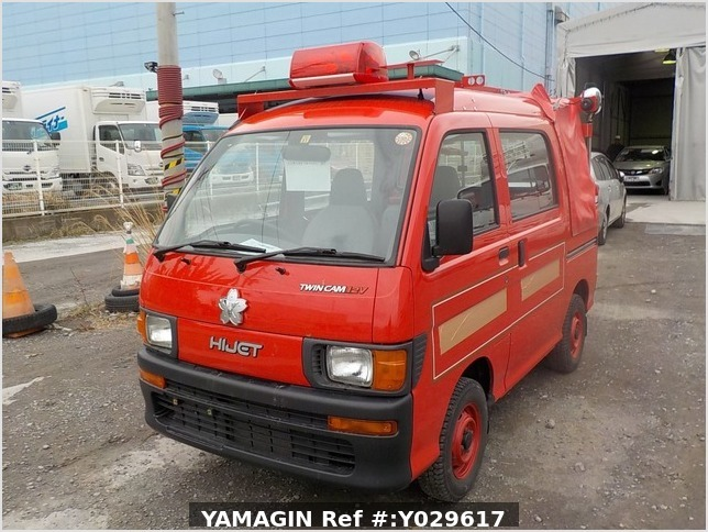 It is a picture of the red daihatsu hijet deck van in 1998,Sub Photo 2 Stock No.Y029617