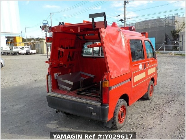 It is a picture of the red daihatsu hijet deck van in 1998,Sub Photo 3 Stock No.Y029617