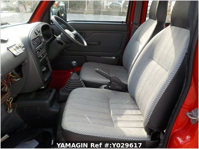 It is a picture of the red daihatsu hijet deck van in 1998,Sub Photo 13 Stock No.Y029617