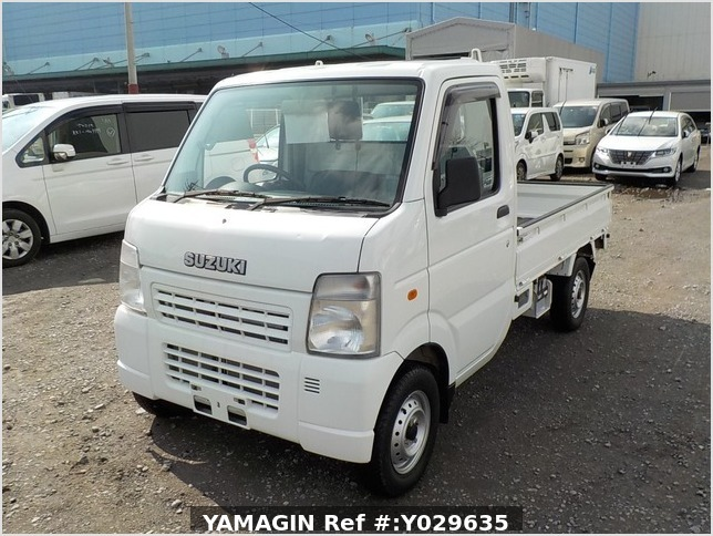 It is a picture of the white suzuki carry truck in 2009,Sub Photo 1 Stock No.Y029635