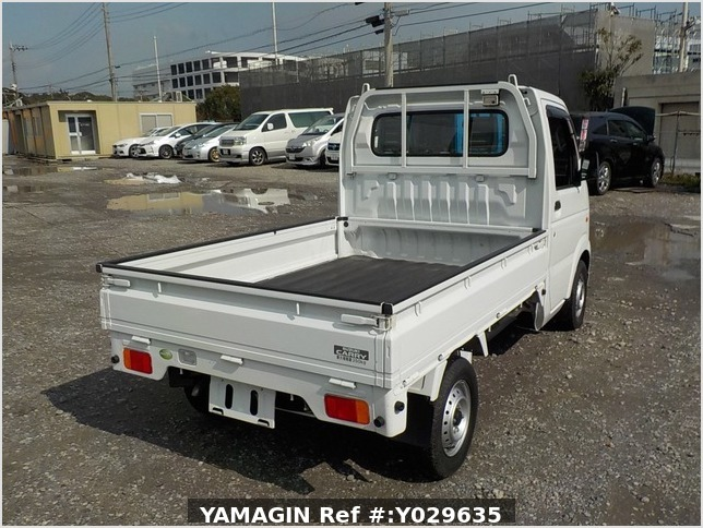 It is a picture of the white suzuki carry truck in 2009,Sub Photo 2 Stock No.Y029635