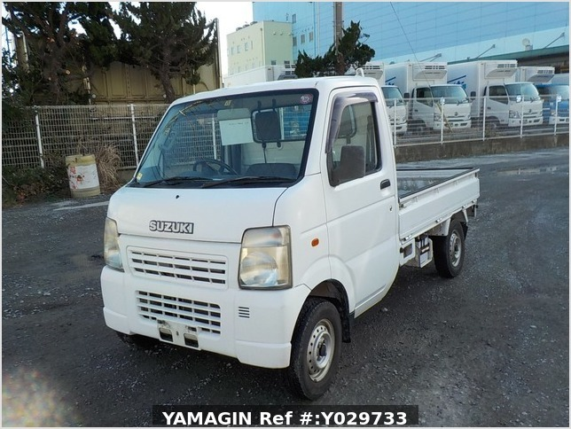 It is a picture of the white suzuki carry truck in 2002,Sub Photo 1 Stock No.Y029733