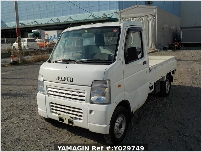 It is a picture of the white suzuki carry truck in 2008,Sub Photo 1 Stock No.Y029749