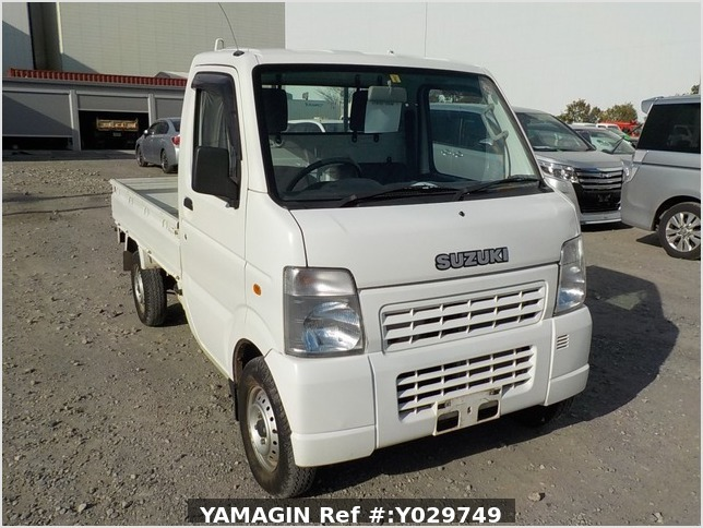 It is a picture of the white suzuki carry truck in 2008,Sub Photo 0 Stock No.Y029749