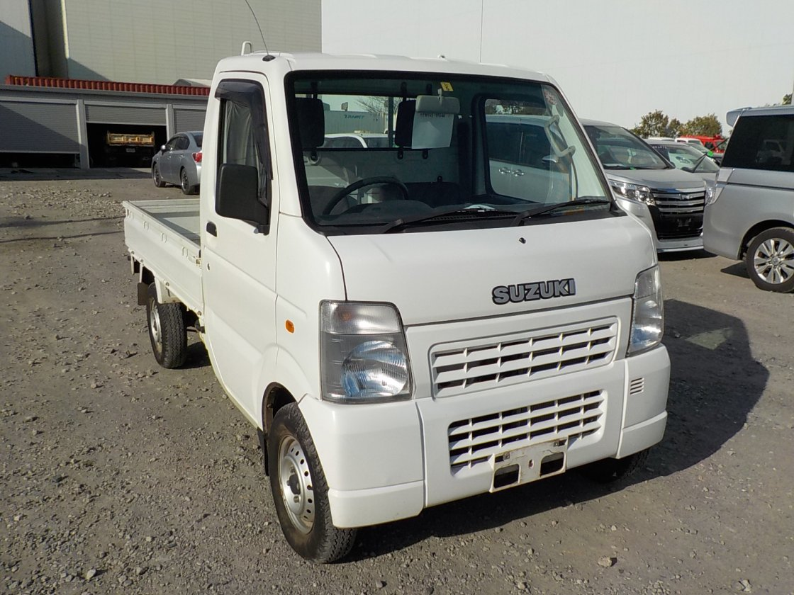 It is a picture of the white suzuki carry truck in 2008,First Photo Stock No.Y029749