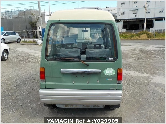 It is a picture of the green 2 subaru sambar dias passenger van in 1995,Sub Photo 4 Stock No.Y029905