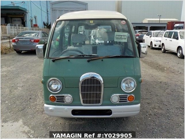 It is a picture of the green 2 subaru sambar dias passenger van in 1995,Sub Photo 7 Stock No.Y029905